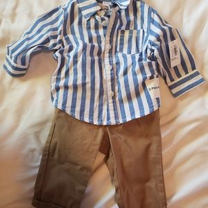 New Old Navy 2 piece boys 3-6mo button down & pant